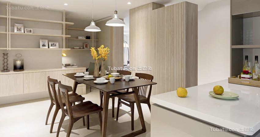 简单清新日式风格餐厅家装效果图