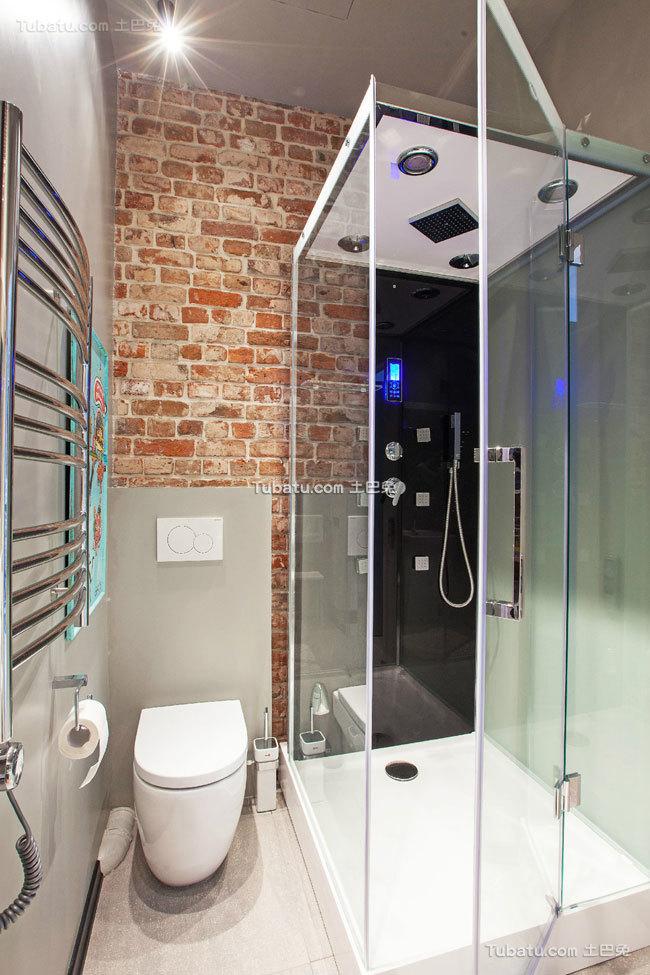 40平米一居室家装卫生间效果图