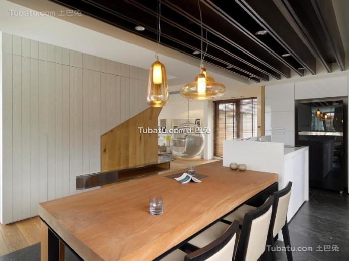 美式住宅餐厅设计效果图