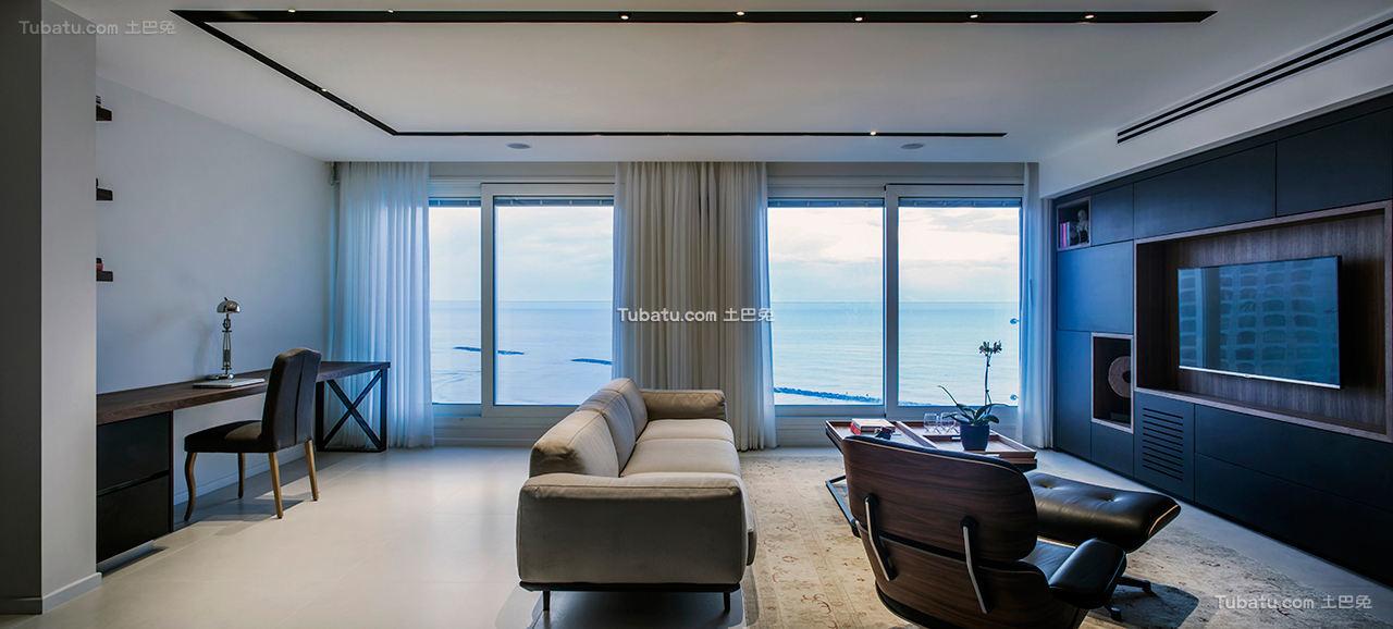 现代公寓窗户效果图