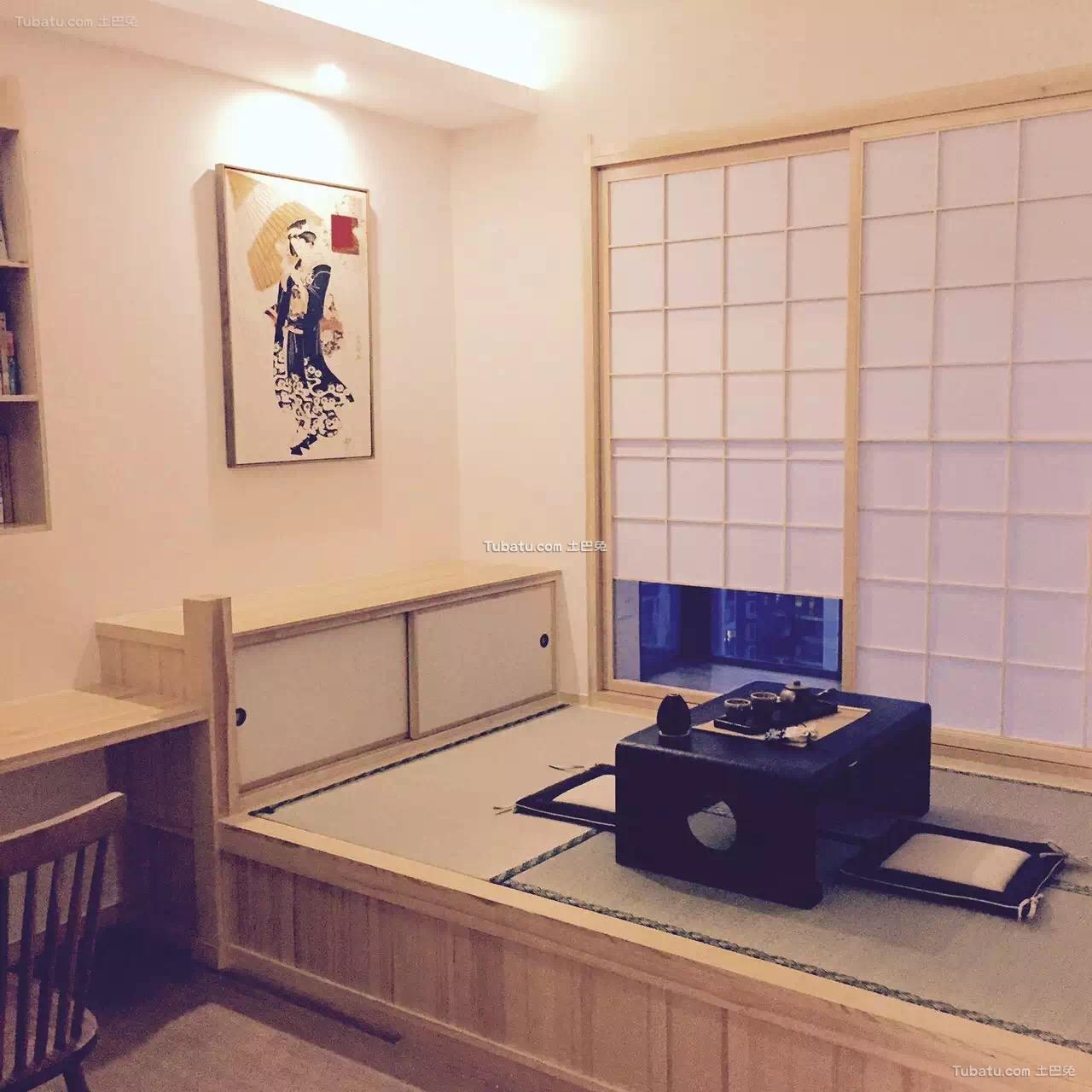 原木日式风格家装榻榻米设计效果图