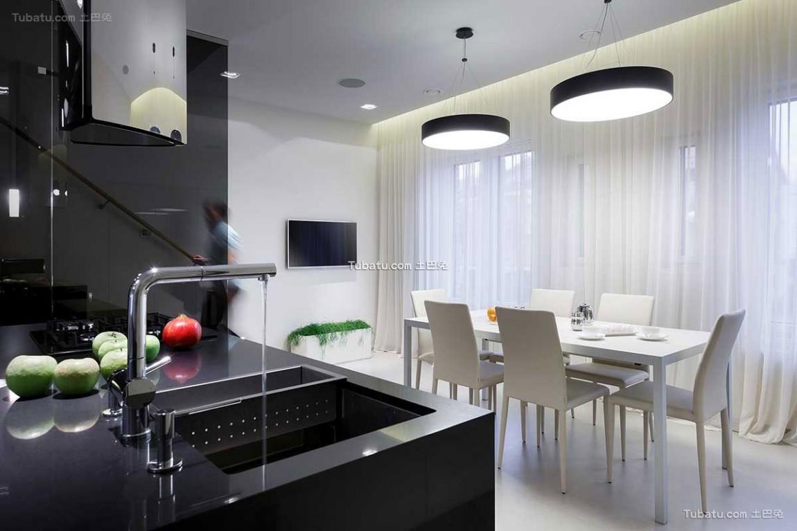 现代复式宅餐厅效果图