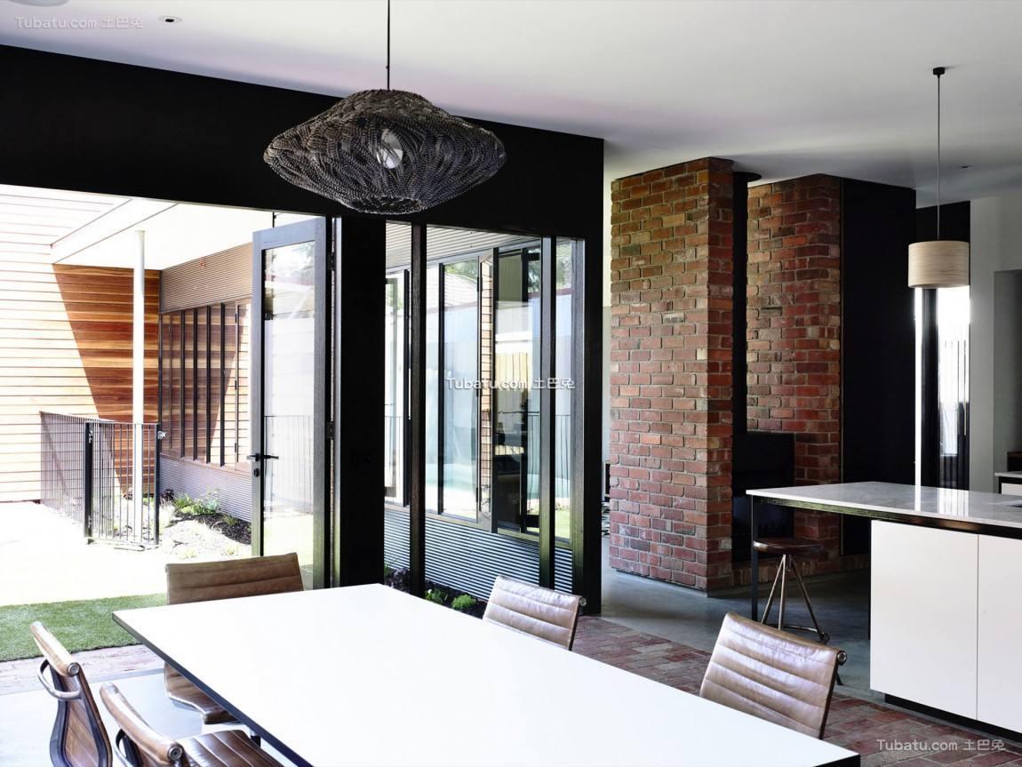 简单美式家装餐厅设计效果图