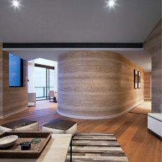 木色原味美式风格过道效果图