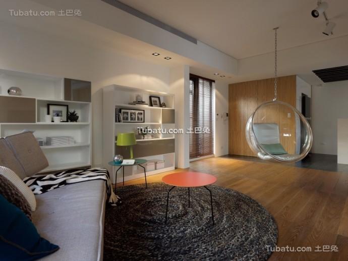 美式住宅客厅设计效果图