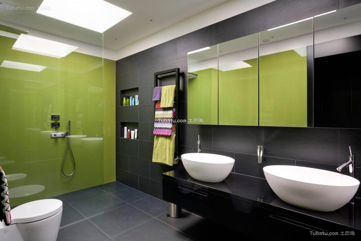 现代摩登家装卫生间效果图
