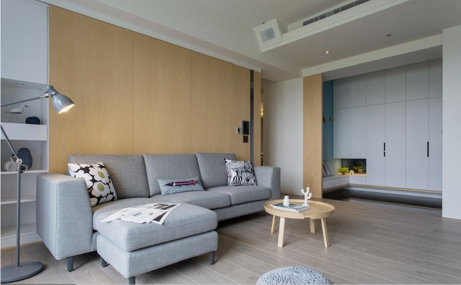 现代北欧宅沙发背景墙效果图
