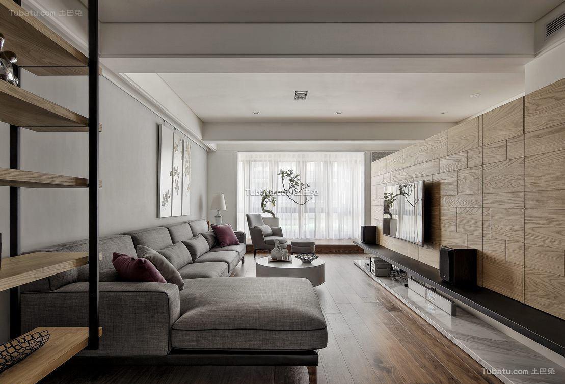 木质宜家风格家装客厅效果图