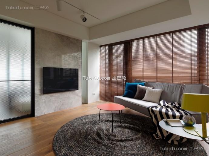 美式住宅电视背景墙效果图