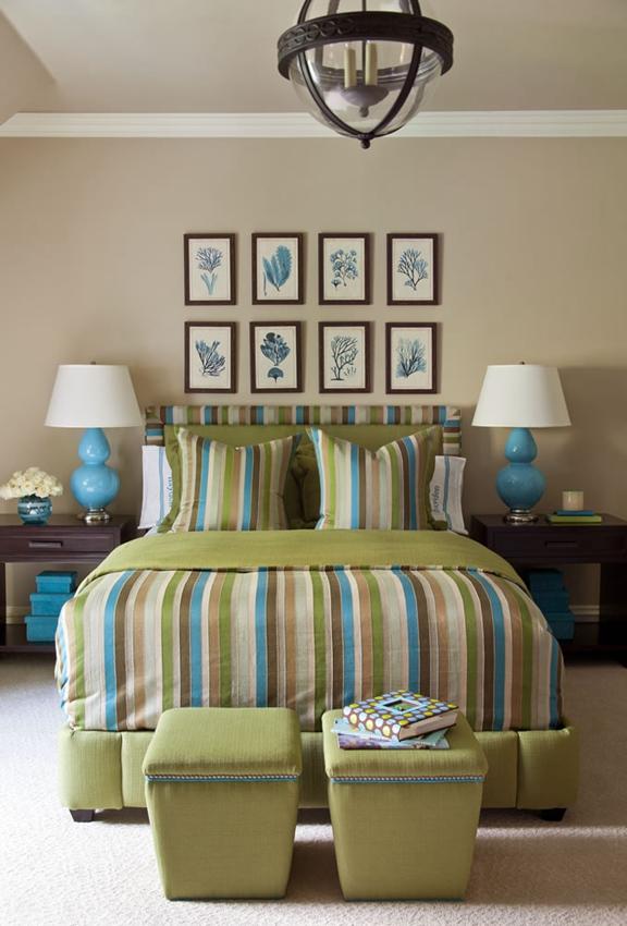 色彩炫耀主义的田园风格家装卧室效果图