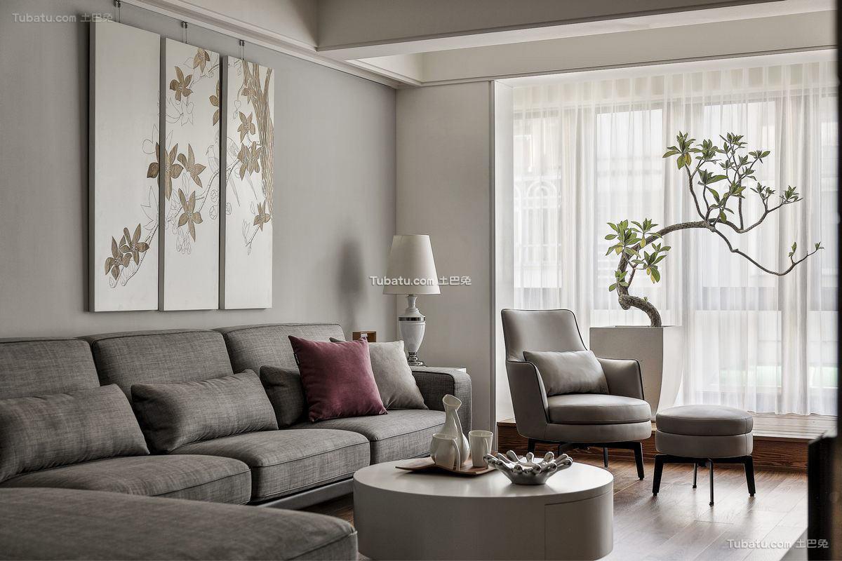 木质宜家风格家装沙发背景墙效果图