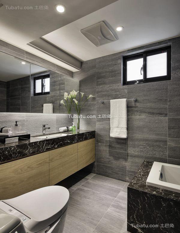 木质宜家风格家装卫生间效果图
