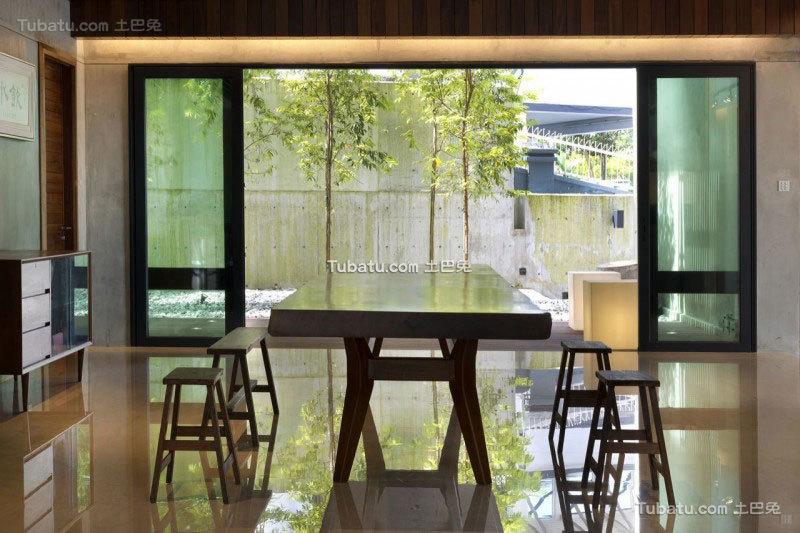 现代简约风住宅餐厅图
