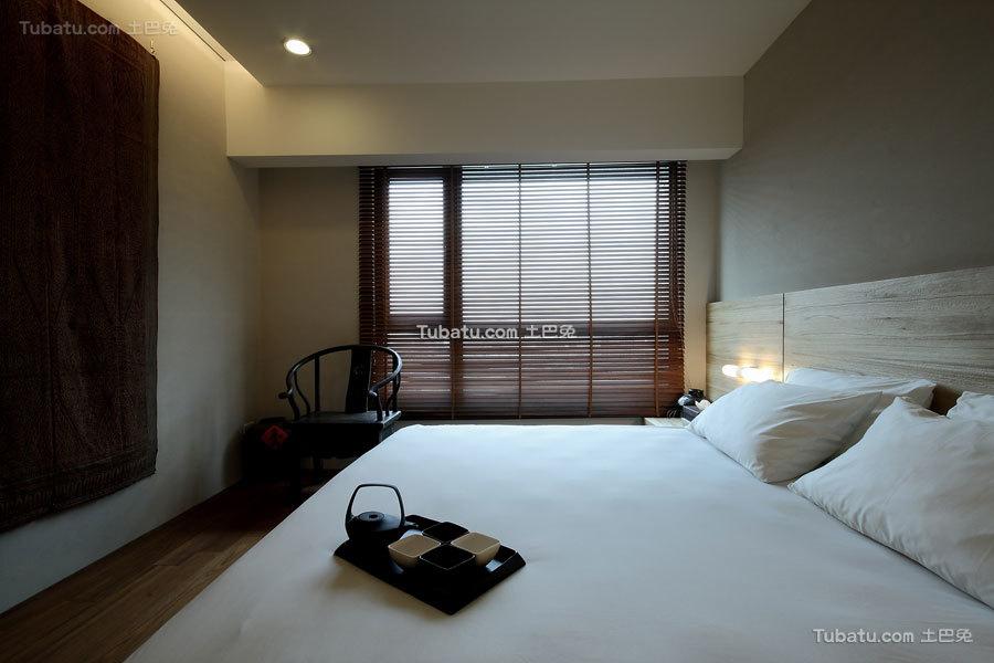 简约中式风住宅卧室效果图