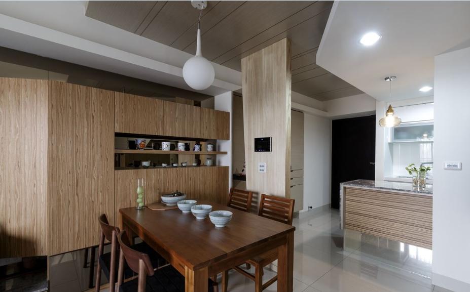 精工木宅的小户型家装餐厅效果图片
