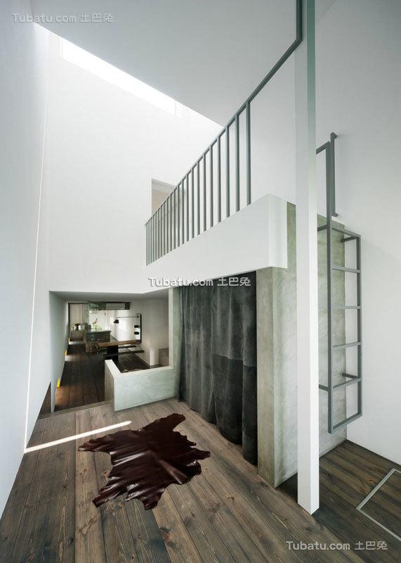 日式简约风格住宅客厅效果图