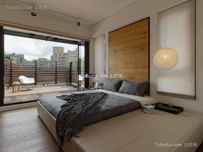 美式住宅卧室效果图