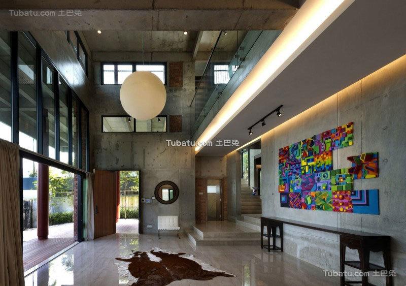 现代简约风住宅背景墙图