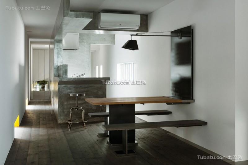 日式简约风格住宅餐厅设计效果图