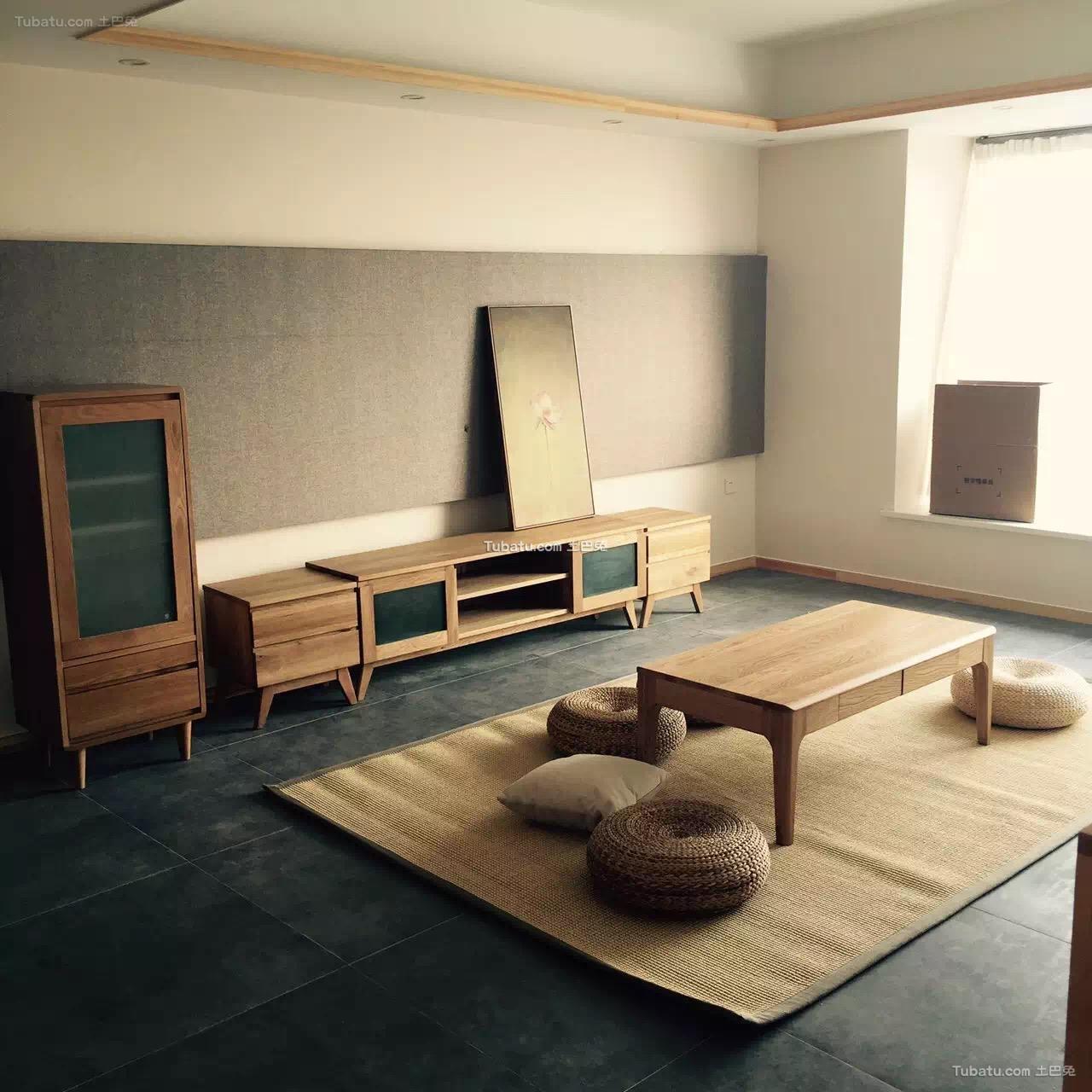 原木日式风格家装榻榻米效果图