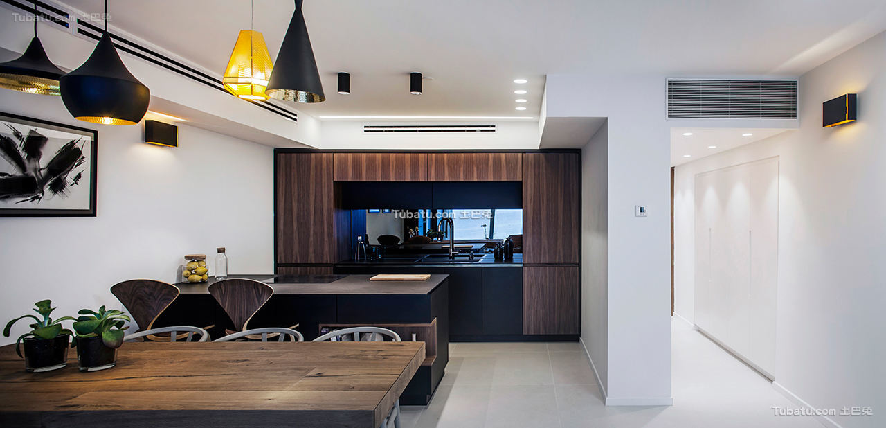 现代公寓餐厅效果图片