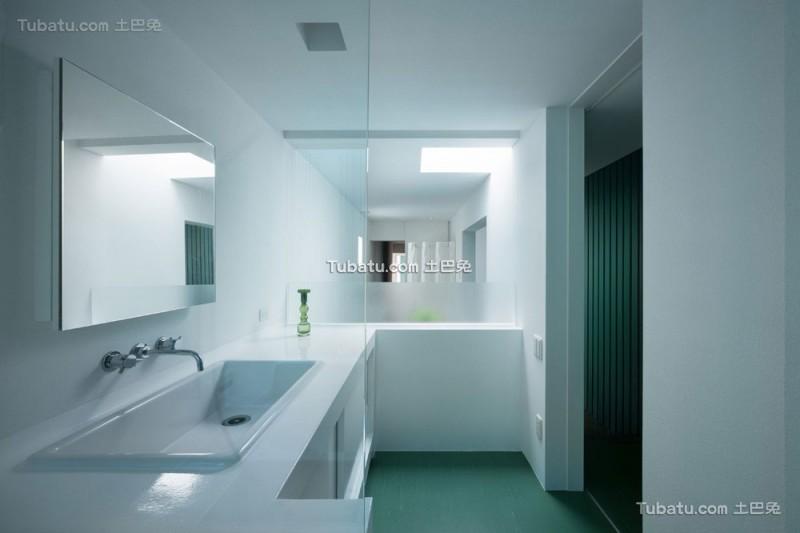 日式简约风格住宅卫生间效果图