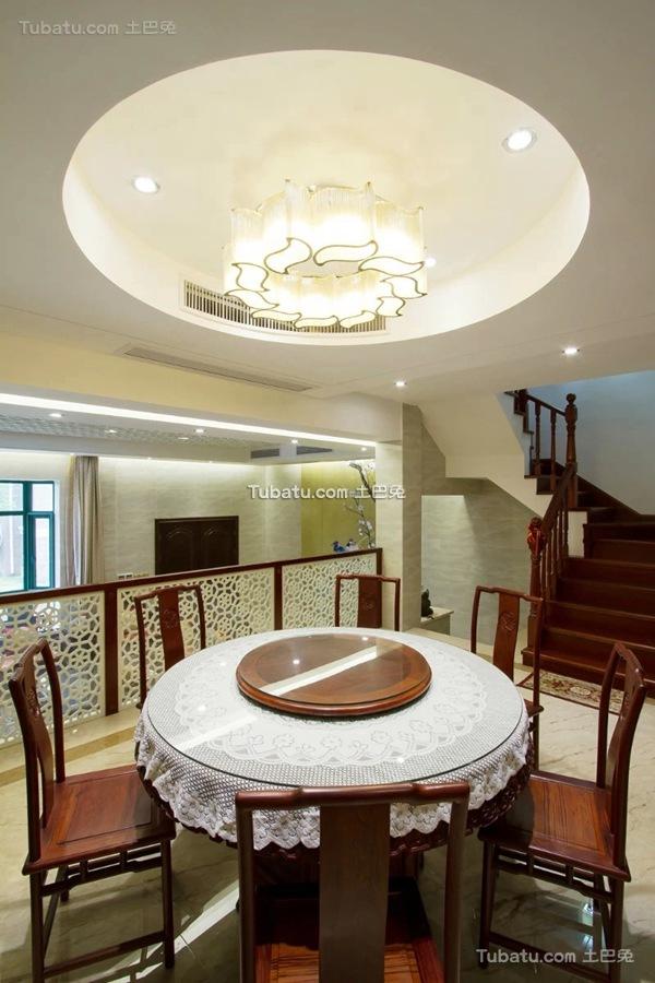 热门110平米中式别墅装修欣赏图