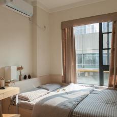 原木日式家装卧室效果图