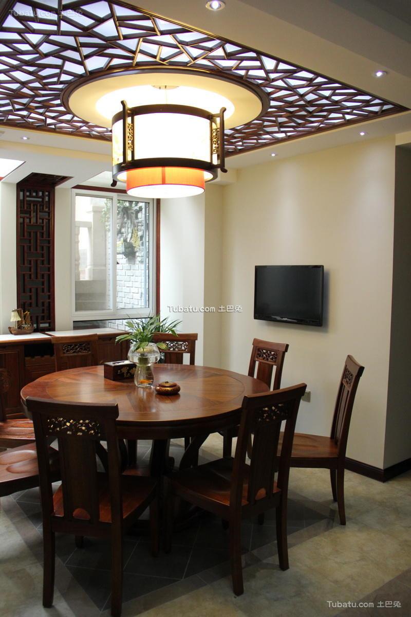时尚中式家装餐厅效果图