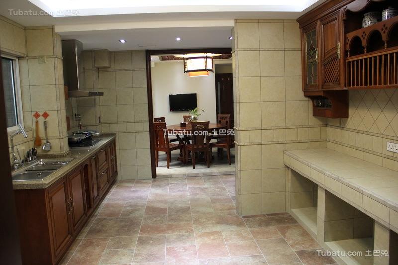 时尚中式家装厨房效果图