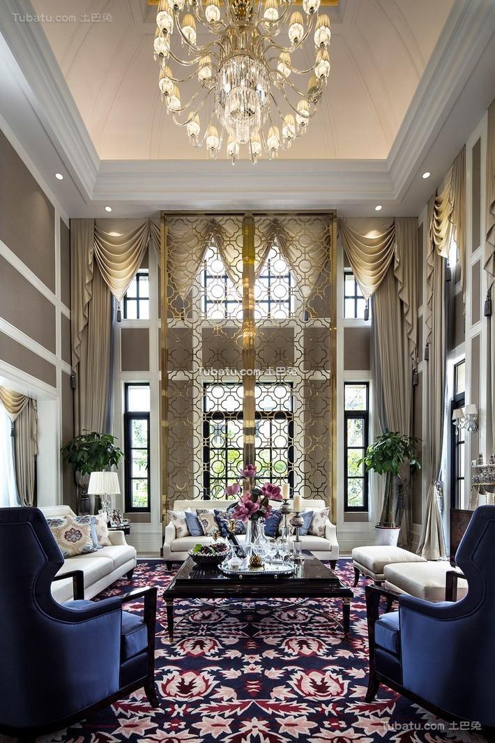 高雅欧风家装客厅设计效果图