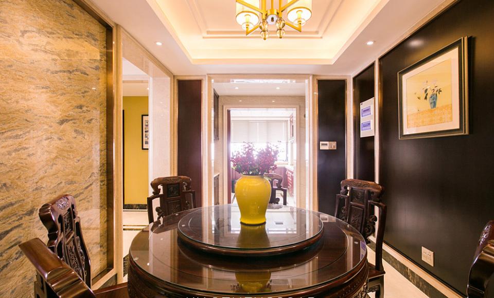 明亮中式家装餐厅效果图
