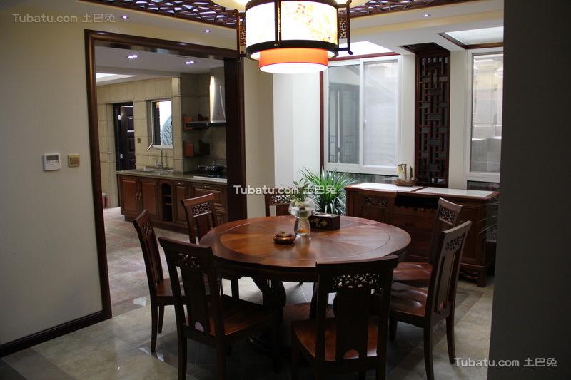时尚中式家装餐厅设计效果图