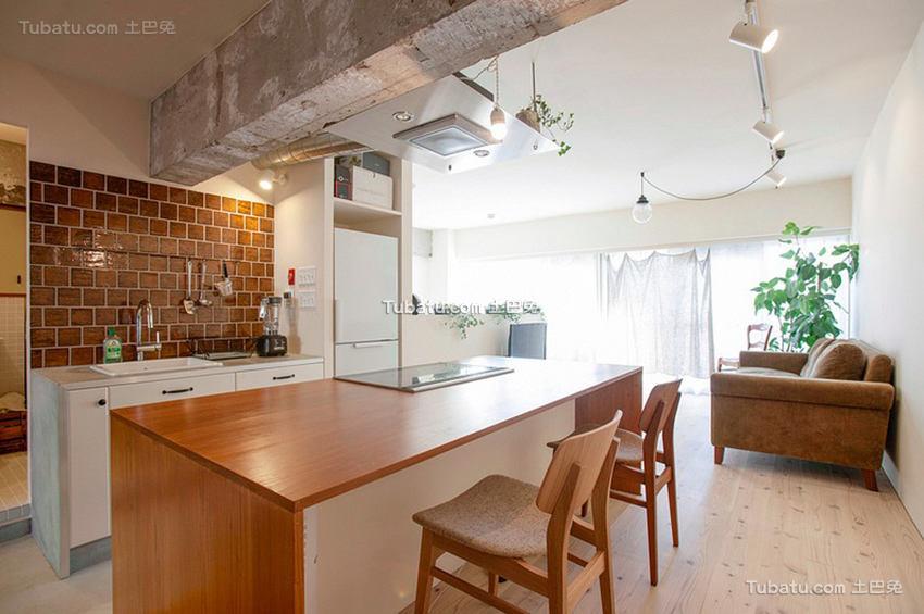 日式公寓家装餐厅效果图