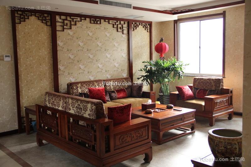 时尚中式家装客厅效果图