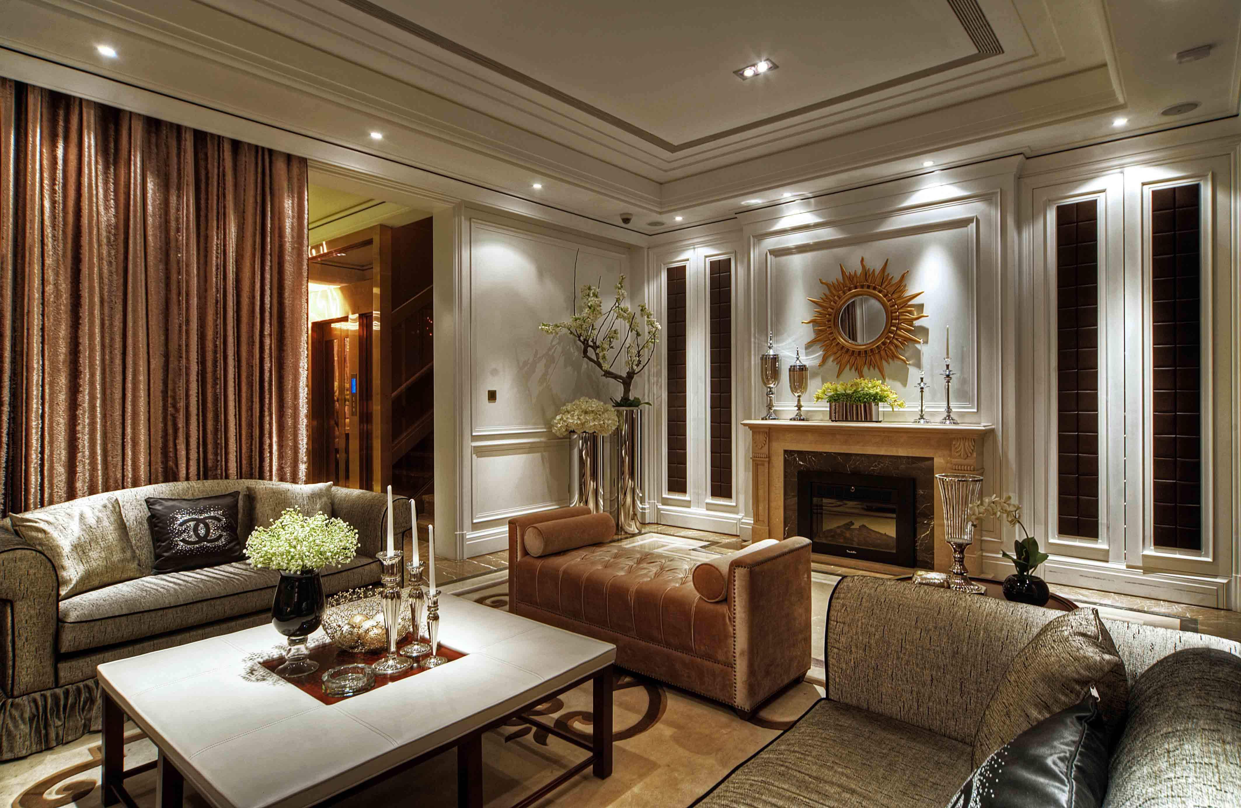 华丽欧式家装电视背景墙效果图