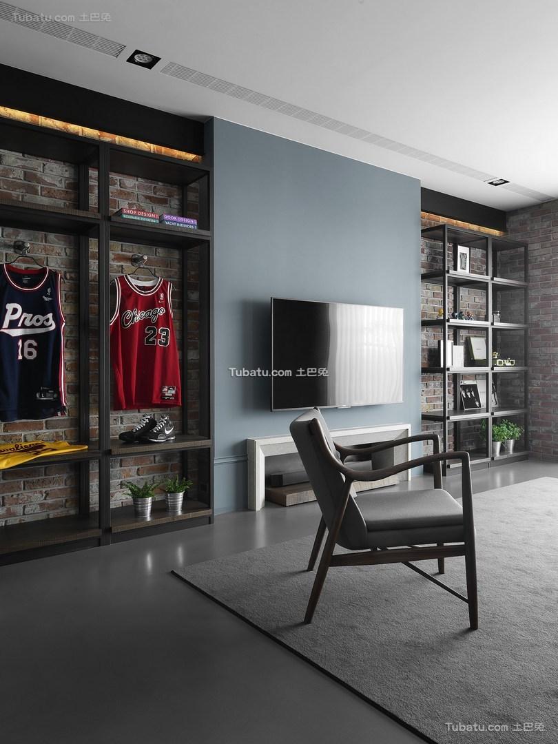 清馨美式家装电视背景墙效果图
