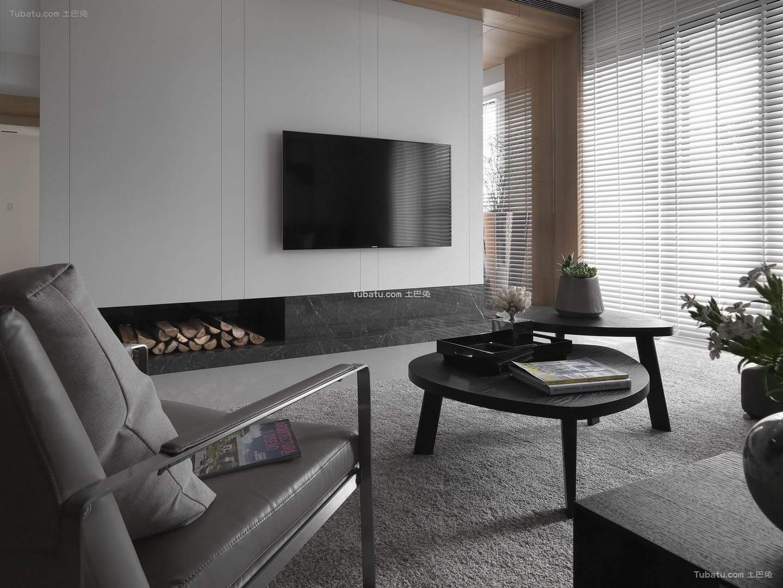 休闲北欧风格家装电视背景墙效果图
