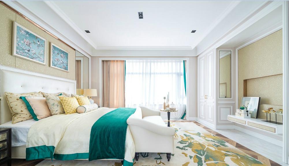 欧式简约风格家装卧室效果图