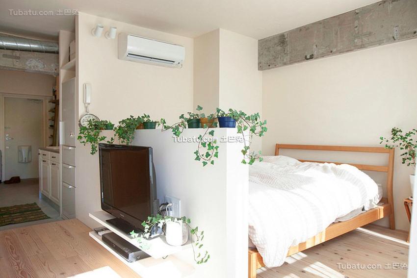 日式公寓家装隔断效果图
