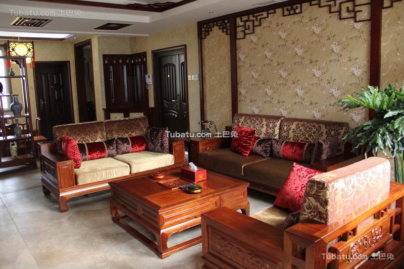 时尚中式家装沙发背景墙效果图