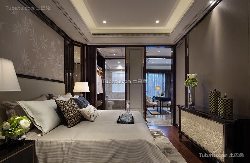 欧装新古典风格卧室效果图