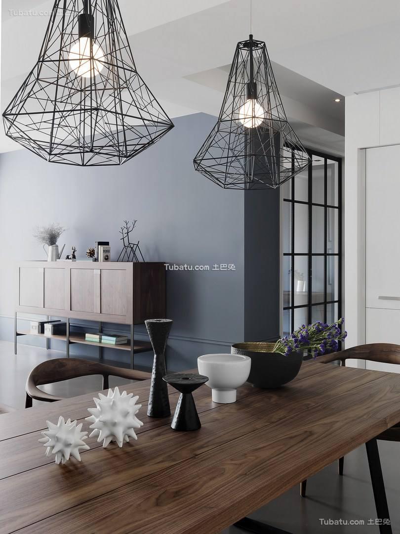 清馨美式家装餐厅图