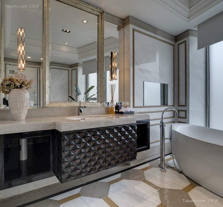 黛丽的欧式风格家装卫生间效果图