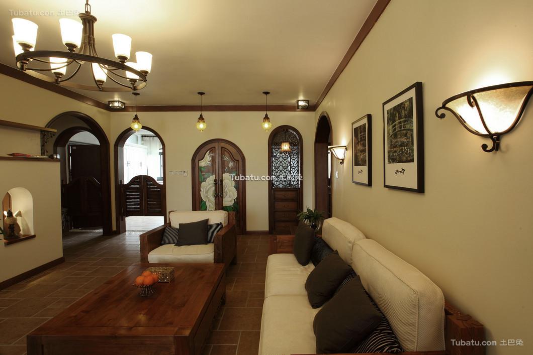 细雨之夏复式家装背景墙效果图