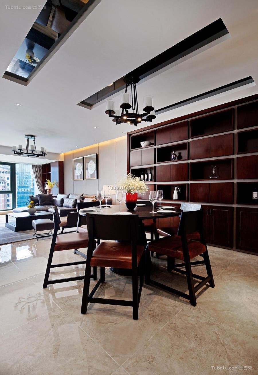 现代中式风格餐厅家装效果图
