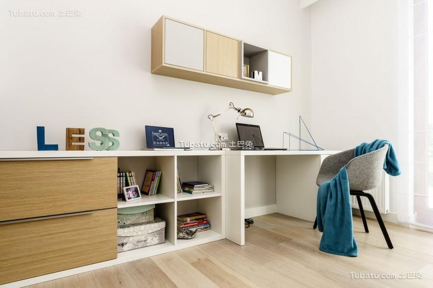 现代极简风格书房效果图