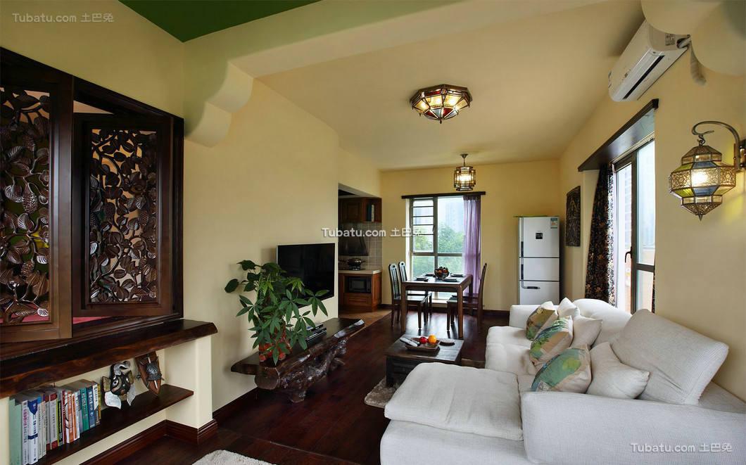 东南亚设计客厅效果图