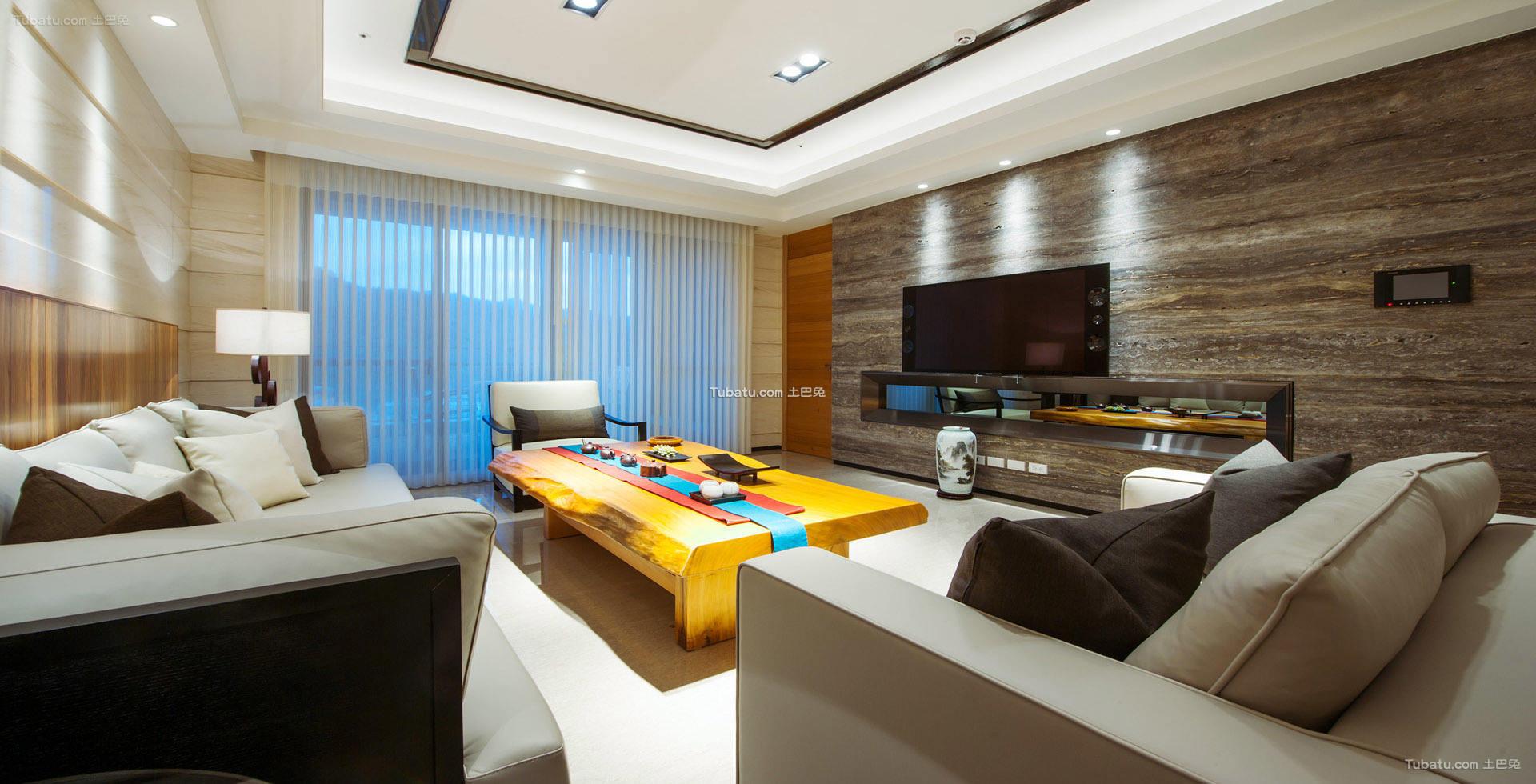 中式典雅设计三居室效果图