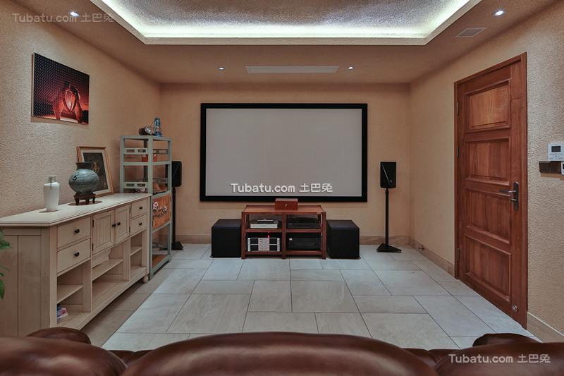 中式原木设计风格休闲区家装效果图